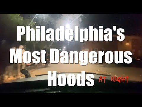 Driving Tour Philadelphia's Most Dangerous Hoods AT NIGHT | DO NOT ENTER Extreme Badlandz (Narrated)