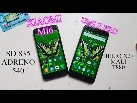Snapdragon 835 vs Helio X27 Speed test/Comparison/RAM/Gaming(Xiaomi Mi6 vs Umidigi Z Pro)
