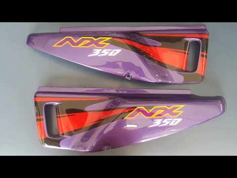 LR Motos - Restauração e Pintura de Carenagens da Honda NX Sahara 350 Roxa   8441