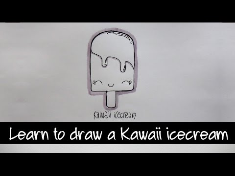 Draw a Kawaii Icecream step by step