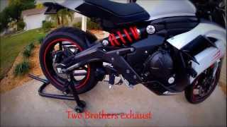 1. 2013 Kawasaki Ninja 650 Two Brothers full exhaust