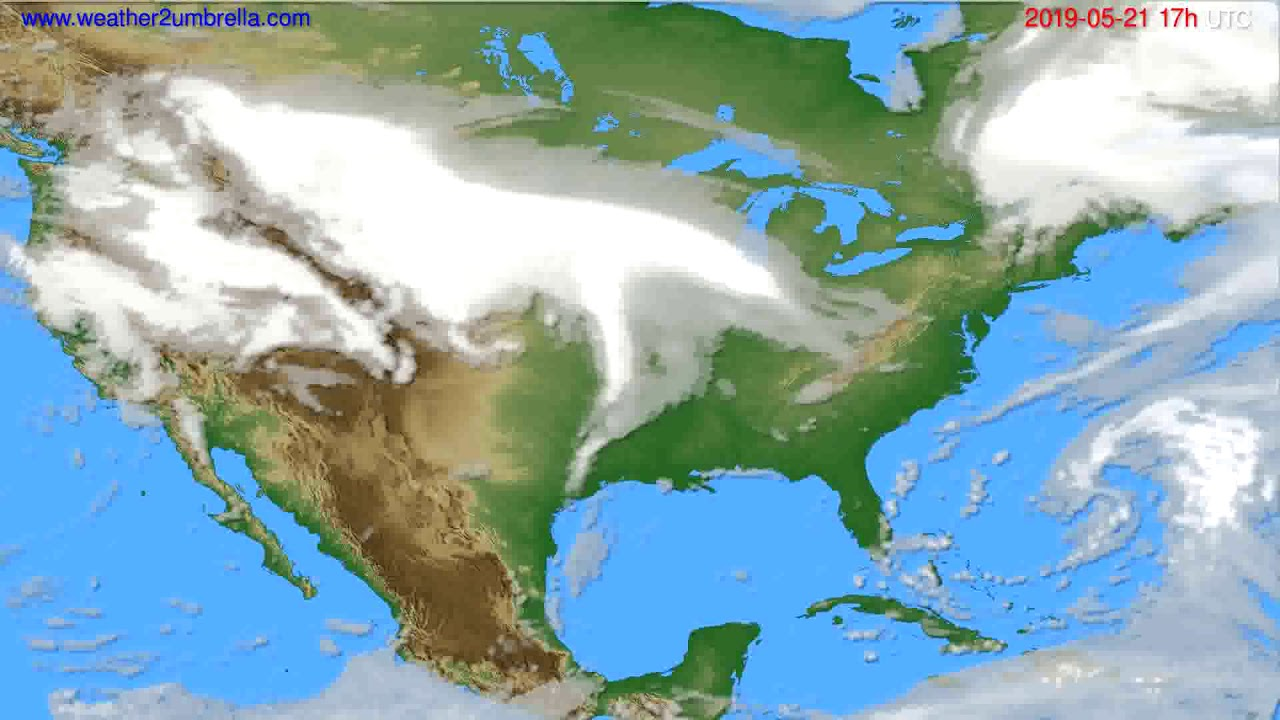 Cloud forecast USA & Canada // modelrun: 00h UTC 2019-05-20