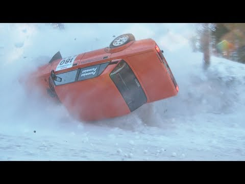 ValUa Winterrally 2012 SS2, Finnish F-Cup (inc. over 20 crash)