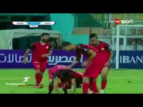 شاهد بالفيديو نجم العزيزيه اسامه مرعي يحرز هدف عالمي في شباك سموحه