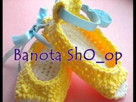 كروشيه اطفال لكاليك وصنادل بنوتات للبيع - baby girl crochet 4 sell