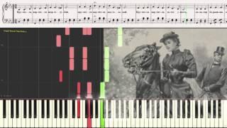 Крутится, вертится шар голубой (Ноты и Видеоурок для фортепиано) (piano cover)