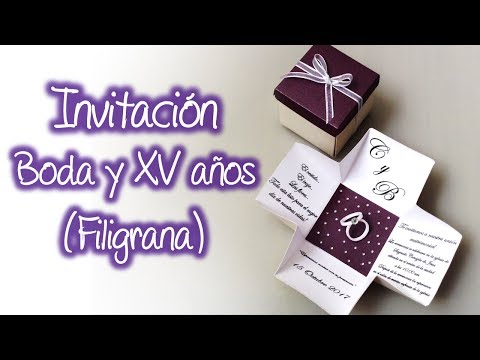Invitacion Para Boda O XV Años De Filigrana, Quilling Wedding Invitation