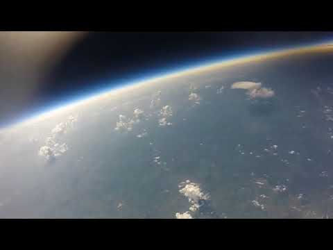 My university space and rocketry team sent a balloon to 100,000 ft during the eclipse in august-Got a great video of the shadow of the moon passing over earth.