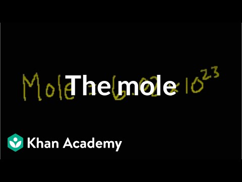 mole - Learn more: http://www.khanacademy.org/video?v=AsqEkF7hcII Introduction to the idea of a mole as a number (vs. an animal)