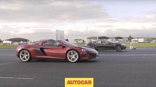 Tesla Model S P85D vs McLaren 650S | Drag Race | Autocar by Autocar