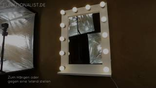 Hollywoodspiegel - Objekt12 - weiß/matt lackiert