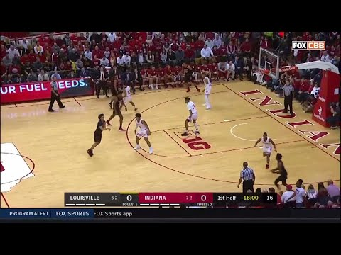 IUBB - IU vs. Louisville Highlights (12/8/18)
