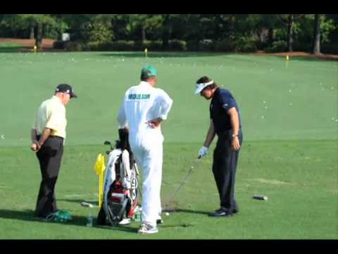 2012 Masters – Phil Mickelson warming up at Augusta National Golf Club