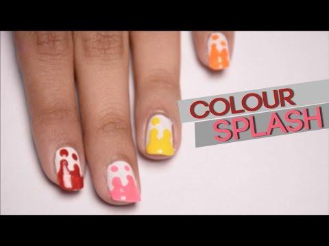 nail art splash colour