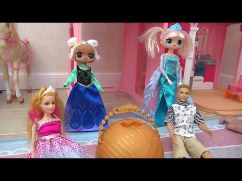 Алиса ИГРАЕТ с куклами ЛОЛ Холодное Сердце  !!! День рождения куклы Алисы !!! (видео)