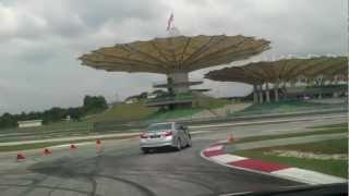 Test Driving The New 2012 Camry At Sepang International Circuit