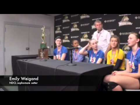 Notre Dame-Cathedral Latin volleyball state final postgame