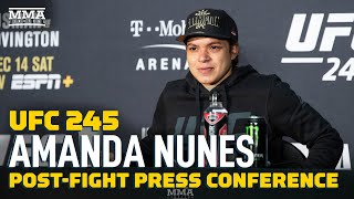 UFC 245: Amanda Nunes Post-Fight Press Conference - MMA Fighting by MMA Fighting
