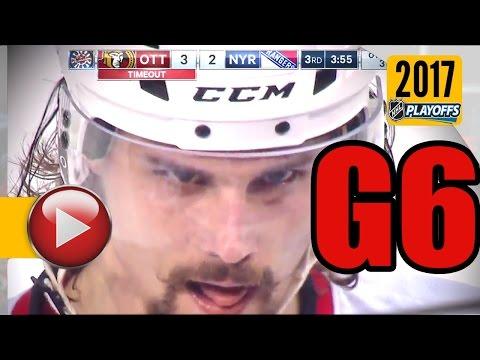 Ottawa Senators vs New York Rangers. 2017 NHL Playoffs. Round 2. Game 6. May 9th, 2017. (HD)