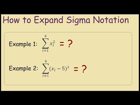 How to expand Summation Notation