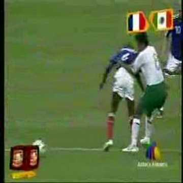 Francia vs México en la Copa Mundial