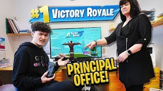 16 Year Old Little Brother Wins Fortnite in Principal's School Office (Head Teacher)