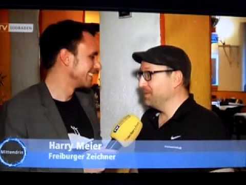 Harry der Zeichner beim 24 Stunden Comic zeichnen Marathon