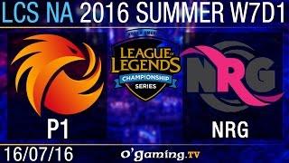 Phoenix1 vs NRG Esports - LCS NA Summer Split 2016 - W7D1