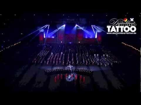 Finale Deutschland Military Tattoo auf Schalke Teil 1 Das Steigerlied