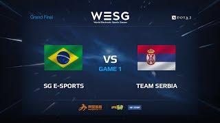 SG e-sports против Team Serbia, game 1, WESG 2017 Grand Final