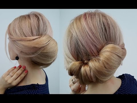 Easy hairstyles - EASY LAZY HAIRSTYLE QUICK TWISTED BUN UPDO  Awesome Hairstyles