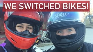 7. FIRST SPORT BIKE RIDE ON KATE'S TRIUMPH STREET TRIPLE R | ALL GIRL COUNTRY RIDE