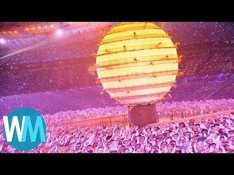 Top 10 Olympic Opening Ceremonies (видео)
