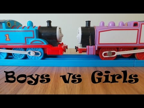 thomas - Thomas and friends battle between the boys and girls Request by Lindylou2901 Royalty free music by Kevin Macleod (incomputech.com)