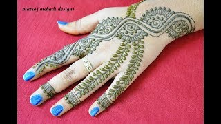 hello all,here is a video on stylish mehndi designs for handshttps://www.instagram.com/divya080/subscribe for more videos:https://www.youtube.com/channel/UCECgulN13NACgO49LRXeQpAfacebook : https://www.facebook.com/Matroj-Mehndi-Designs-284372255239829/