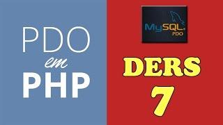 70php dersleri  pdo mysql select işlemi 1.örnek pdo ile mysql veri çekme işlemi