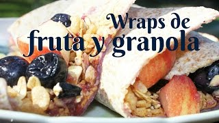 Wraps de fruta y granola