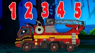 Video Scary Fire Truck | Learning Numbers | Halloween Special For Kids MP3, 3GP, MP4, WEBM, AVI, FLV Juni 2017