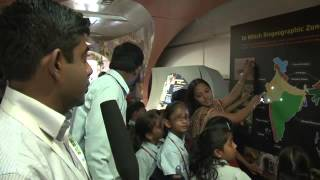 CBD COP11 (18/10/2012) - There's a Tiger on my train! RTCC reporter Alok Gupta visits the Biodiversity Express, a museum constructed on a train that has been ...