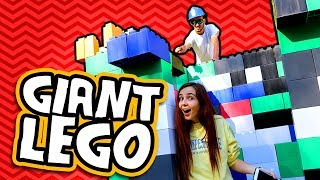 HUMAN SIZE GIANT LEGO TOWER! (Worlds Largest Lego Blocks)