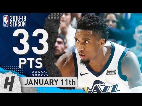 Donovan Mitchell NASTY Highlights Jazz vs Lakers 2019.01.11 - 33 Points, 9 Ast