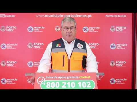 Comunicado Presidente da Câmara Municipal de Porto de Mós - COVID-19 - 04-06-2020