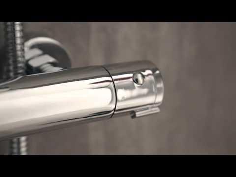 Colonna Doccia Completa Regolabile con Miscelatore Termostatico Doccia Pacisci A3558 Hudson Reed