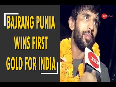 Bajrang Punia wins first gold medal for India at Asian Games 2018