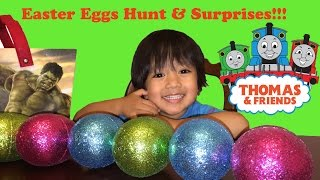 Open easter eggs surprise thomas the tank engine train and friends