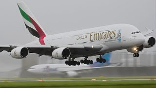 A380 Landing in major summer storm, recorded back in 2015 on the 25th of July @ Amsterdam Schiphol Airport.I hope you liked the video if so do not forget to share, rate and comment on the video. Yours 17Splinter#aviation #emirates #A380 #amsterdam #schiphol #airport #dangerous #landing #crosswind #megaplane #superjumbo #dubai #schipholhotspot #storm #stormy #runway