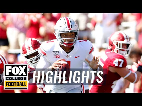 Video: Ohio State QB Justin Fields scores first-half TDs vs. Indiana | FOX COLLEGE FOOTBALL HIGHLIGHTS