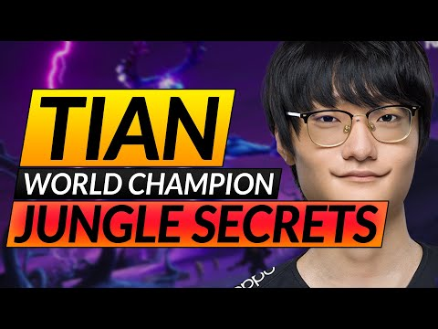 How to Jungle like WORLD CHAMPION Tian - Advanced Pathing, Ganking and Tracking - LoL Pro Guide