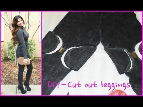 DIY- Cut Out Leggings