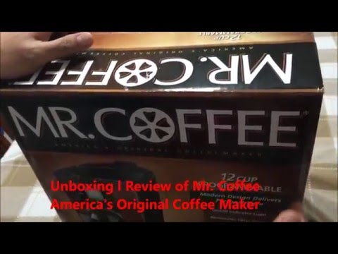 Unboxing l Review of Mr  Coffee Coffee Maker 12 Cup Programmable l Americas Original Coffee Maker